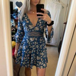 Missguided floral skater dress